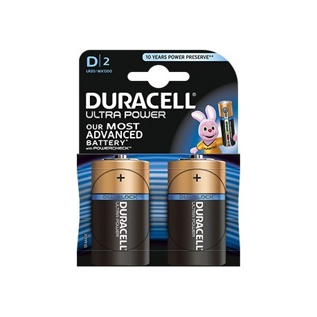 Pila alcalina Duracell Ultra Power D LR20 - 2 unidades
