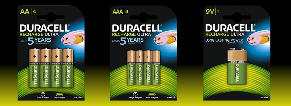 Pilas recargables Duracell